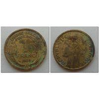 1 франк Франция 1939 год, KM# 885 FRANC, из мешка