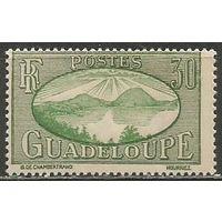 Гваделупа. Рейд на острове Сен. Пейзаж. 1928г. Mi#104.