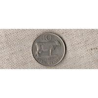 Гернси 10 пенсов 1977/корова(Oct)