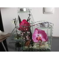 Подсвечник Орхидея Подарок День Св.Валентина День рождения 23 феврлая 8 марта