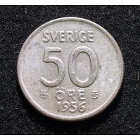 Швеция 50 ойре 1956 серебро