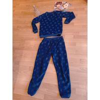 Пижама тёплая для крутой девочки 10-9 лет