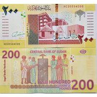 Судан 200 фунтов  2019 год  UNC