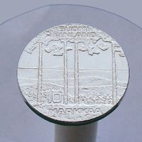 Финляндия 10 марок 1975 75 лет Урхо Калева Кекконен