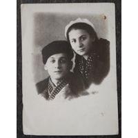 Фото на память о военной учебе.1941 г. 9х12 см.