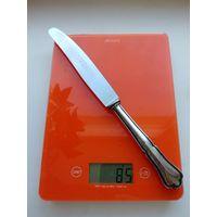 Старинный столовый нож, Германия, 800 проба, рукоятка литая, серебро, отличный