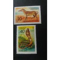 Туркменистан 1992 2м. фауна