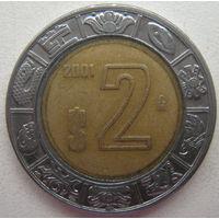 Мексика 2 песо 2001 г.