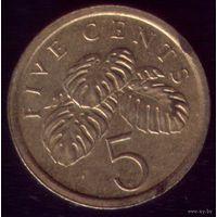 5 центов 1987 год Сингапур