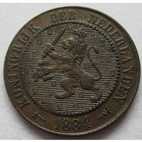 Нидерланды 2 1/2 цента 1884 - состояние!
