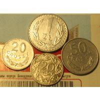 Монеты Польши 1 злотый + 50 + 20 грошей + бонус