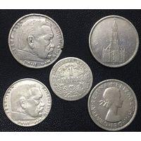 Лот старых серебряных монет!