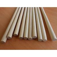Круглые деревянные палочки, деревянные стержни, заготовки для ремесел 8мм 50см