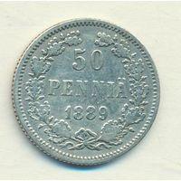 50 пенни 1889 год L _состояние XF