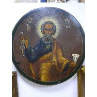 Святой Апостол Петр. 43 см в диаметре. 19 век.