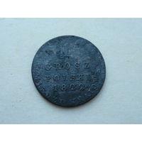 1 грош polski 1822 IB медь редкий состояние
