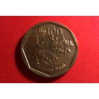 100 рупий 1998. Индонезия. Хорошая!
