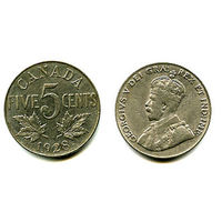 Канада 5 центов 1928 СОСТОЯНИЕ KM29