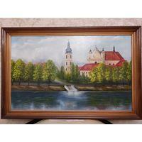 "Картина, ""Набережная реки Пина"", холст , масло, худ. Лац,  88 Х 58 см."