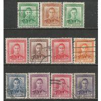 Новая Зеландия. Король Георг VI. 1938г. 11марок.
