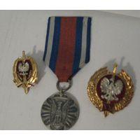 Знаки МВД  Польша 3 шт.