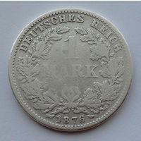 Германия - Германская империя 1 марка. 1876. F