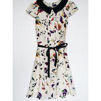 Шифоновое платье с птичками