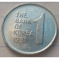 Южная Корея 1 вона, 1981       ( 6-5-1 )