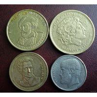 Греция. 4 монеты 1980-1994 г.