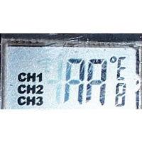 ЖК индикатор от бытового многоканального измерителя температуры.
