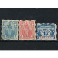 Fr Колонии Гвинея Налоговые 1905-6 Женщина Фута-Дьялон #1,4,10**