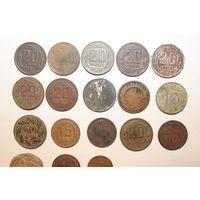 Монеты, разные 17 штук+1 пломба.