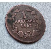 Баден 1 крейцер, 1852 4-1-24