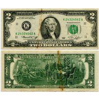 США. 2 доллара (образца 1976 года, K, Техас, P461)