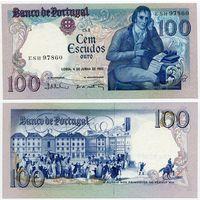 Португалия. 100 эскудо (образца 1985.06.04 года, P178e, подпись 1, UNC)