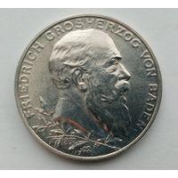 2 марки 1902, 50 лет правления Фридриха I, серебро.