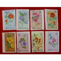 Вьетнам. Цветы. ( 8 марок ) 1980 года.