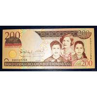 РАСПРОДАЖА С 1 РУБЛЯ!!! Доминиканская Республика 200 песо 2007 год UNC