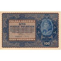 Польша, 100 польских марок, 1919 г. XF-aUNC