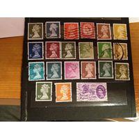 21 марка Великобритании королева Елизавета (3-9)
