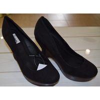 Туфли черные на размер 37, Stradivarius
