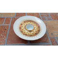 Rosenthal Розенталь - фарфоровый подсвечник / белый с золотом, дизайн датского художника Bjorn Wiinblad / клеймо, диаметр 11 см, высота 3,5 см