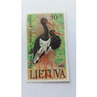 Литва 1991 аист