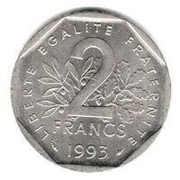 Франция 2 франка 1993 - 50 лет Национальному движению сопротивления
