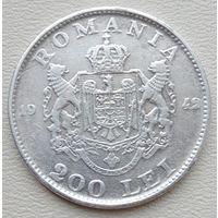 Румыния 200 лей 1942, серебро