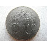 Зимбабве 10 центов 1980 г.