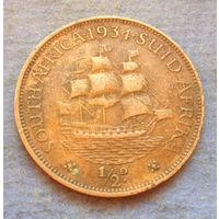 Южная Африка Британский доминион 1/2 пенни 1934 Георг V