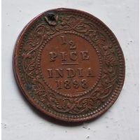 Индия - Британская  1/2 пайса, 1898  3-9-8
