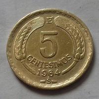 5 сентесимо, Чили 1964 г.