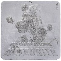 "Палау 1 доллар 2016г. ""Метеорит Muonionalusta"". Монета в капсуле; подарочном футляре; номерной сертификат. Muonionalusta 14гр."
